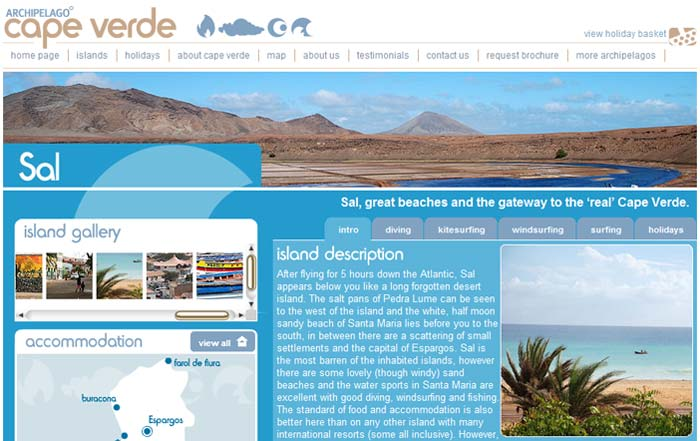 Screenshot of Cape Verde Website